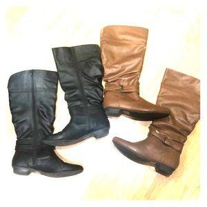 Shoes - Black & Brown Boot Bundle